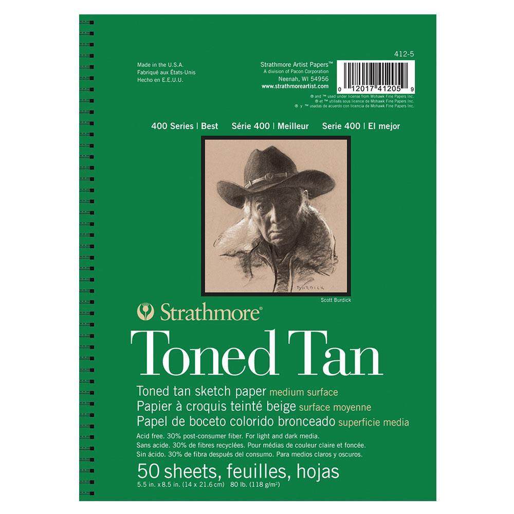 Strathmore Toned Tan Sketch Pad 400 Series 5x8