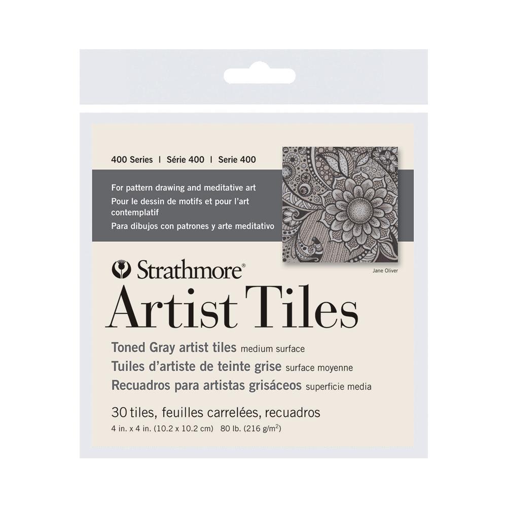 """Strathmore 4""""x4"""" Toned Gray Artist Tile"""