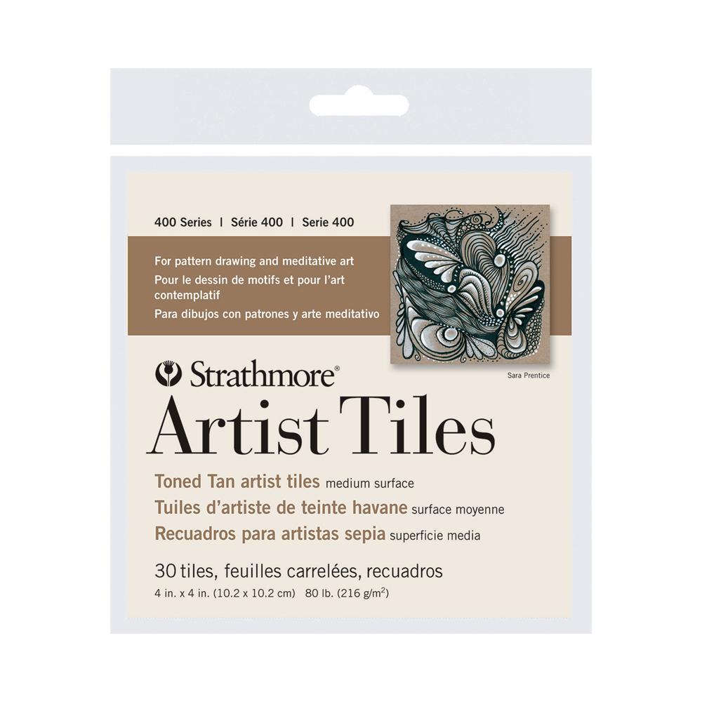 """Strathmore 4""""x4"""" Toned Tan Artist Tiles 30 Pack"""