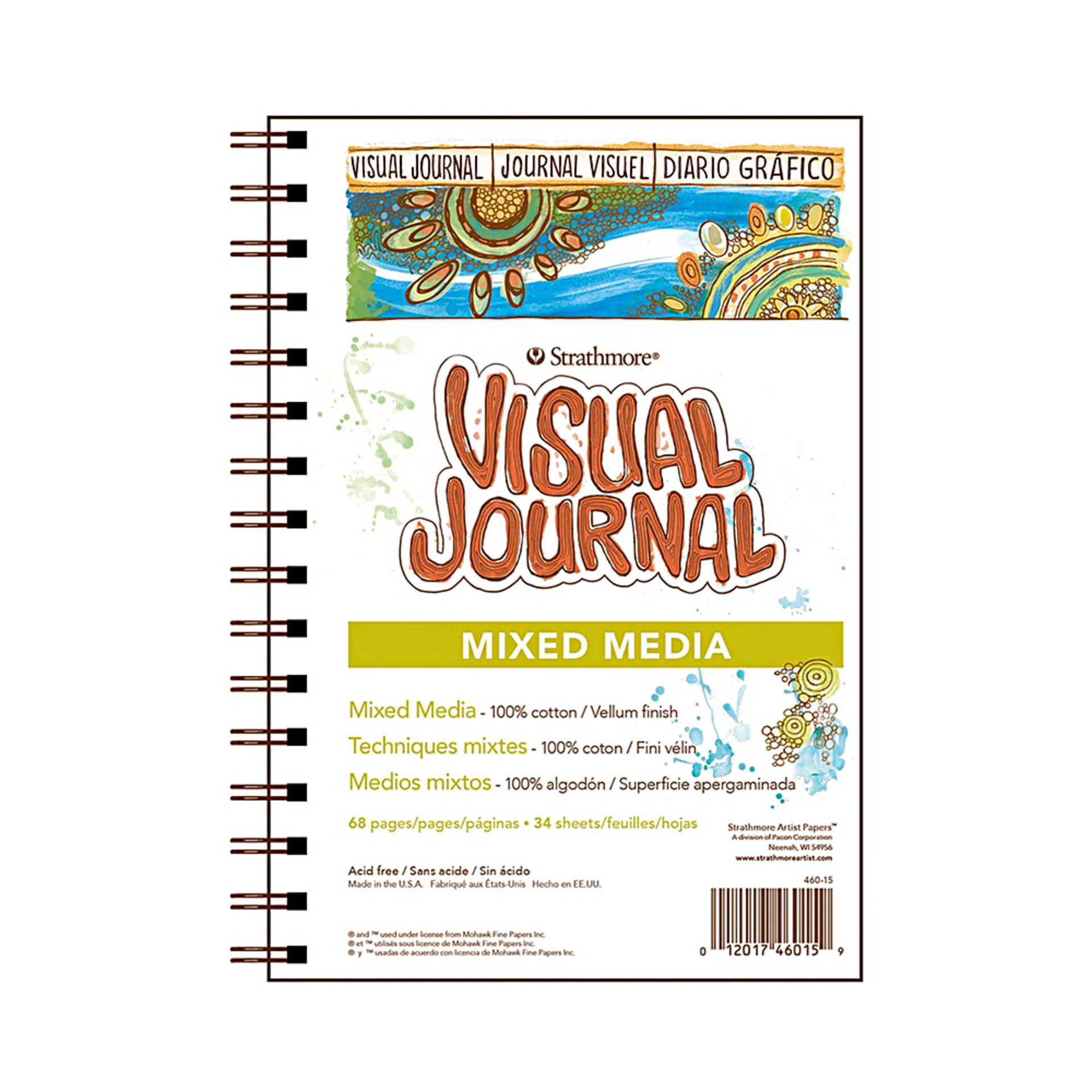 """Strathmore 8""""x5.5"""" Visual Journal Wire Bound Mixed Media"""