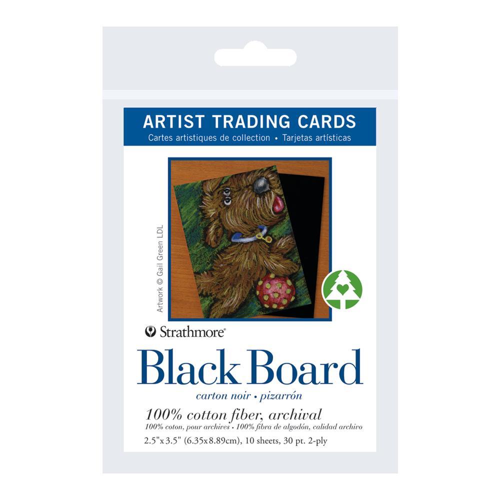 Strathmore Artist Trading Cards Black Board 10 Pack