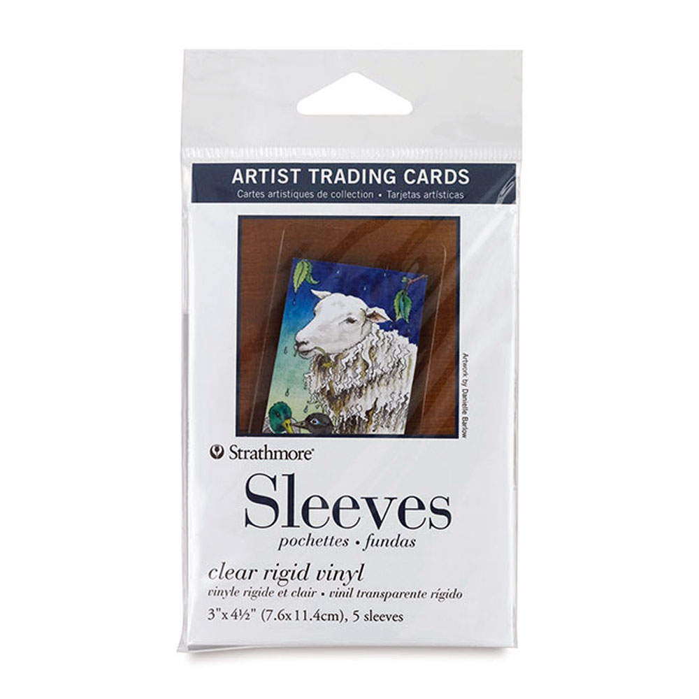 "Strathmore Clear 3""x4.5"" Artist Trading Card Sleeve 5ct"