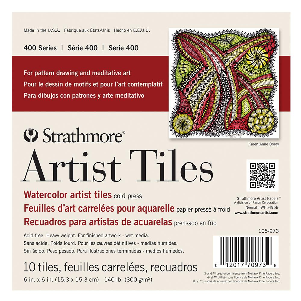 Strathmore Watercolor Artist Tiles 10 Packs 6x6