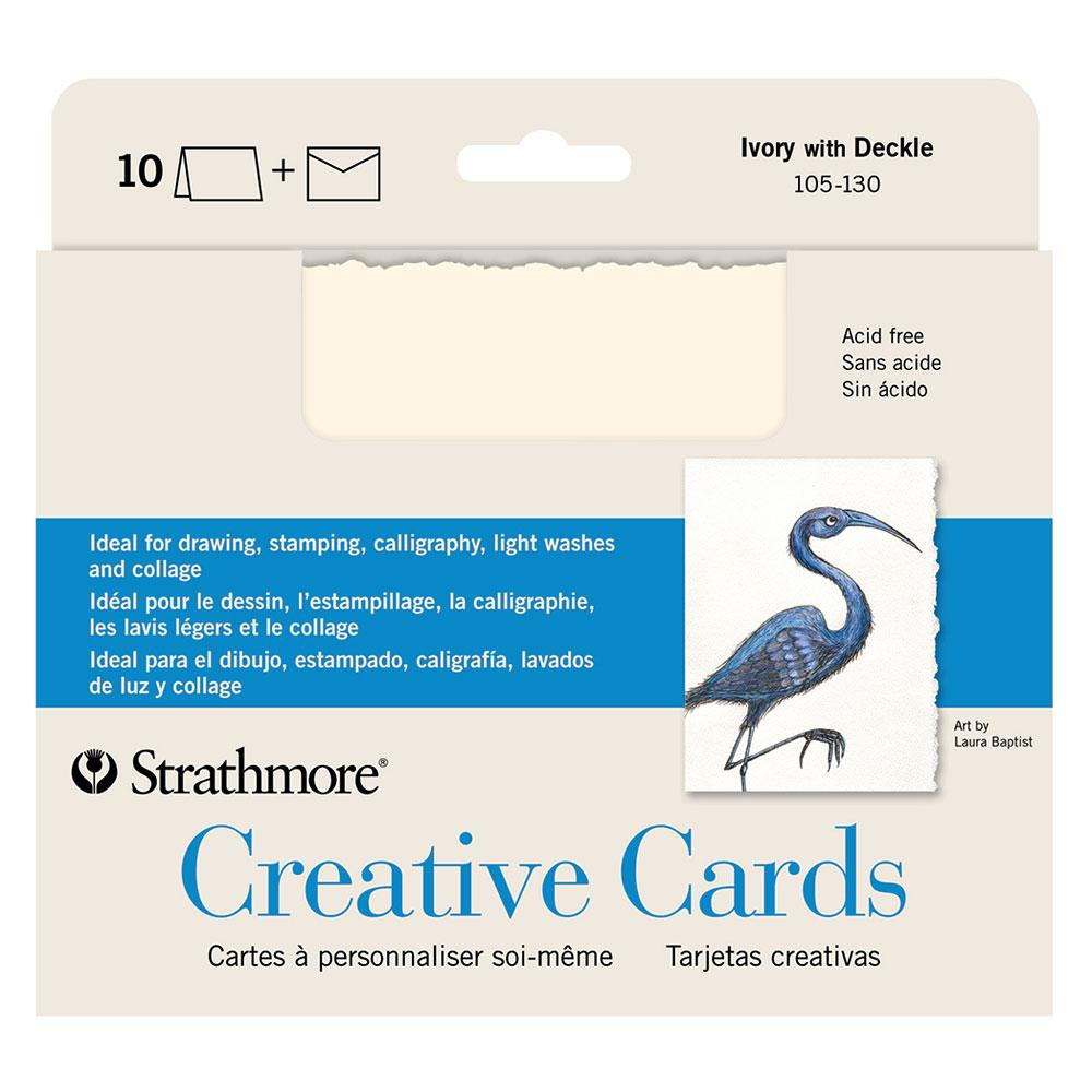 Strathmore Creative Cards With Deckle 10 Pack