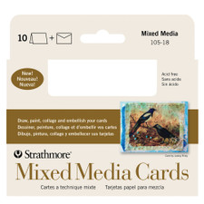 Strathmore Mixed Media Cards 10 Pack 3x5