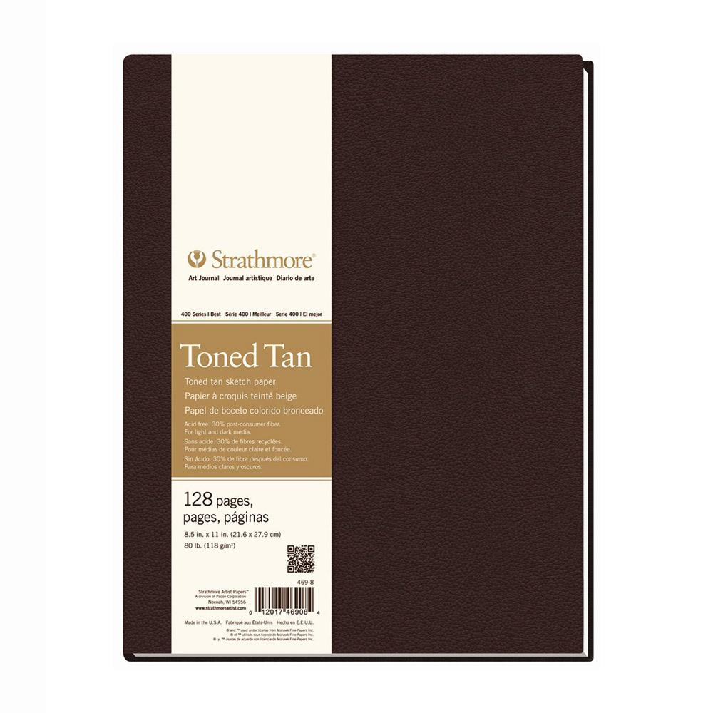 "Strathmore Hardbound Sketch Book Toned Tan 8.5""x11"""