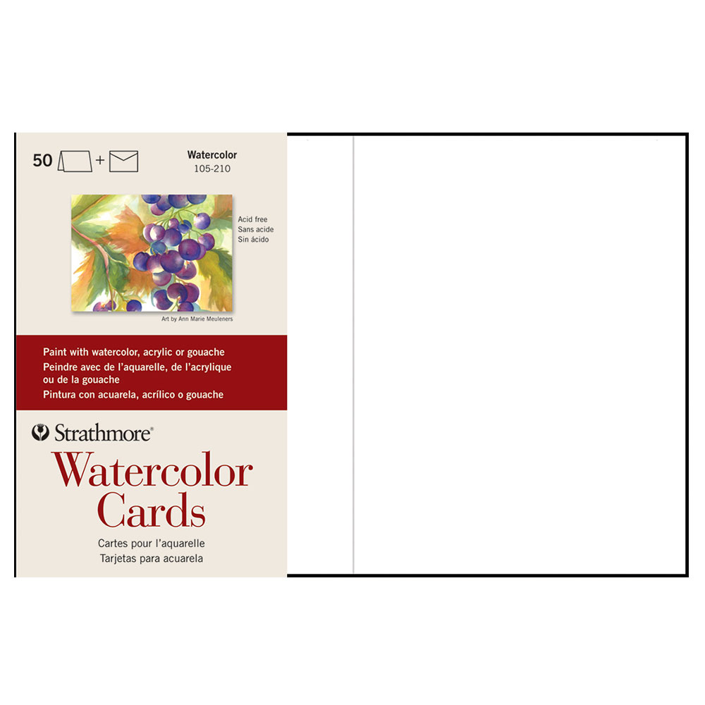 "Strathmore Watercolor Cards 50 Pack 5""x7"""