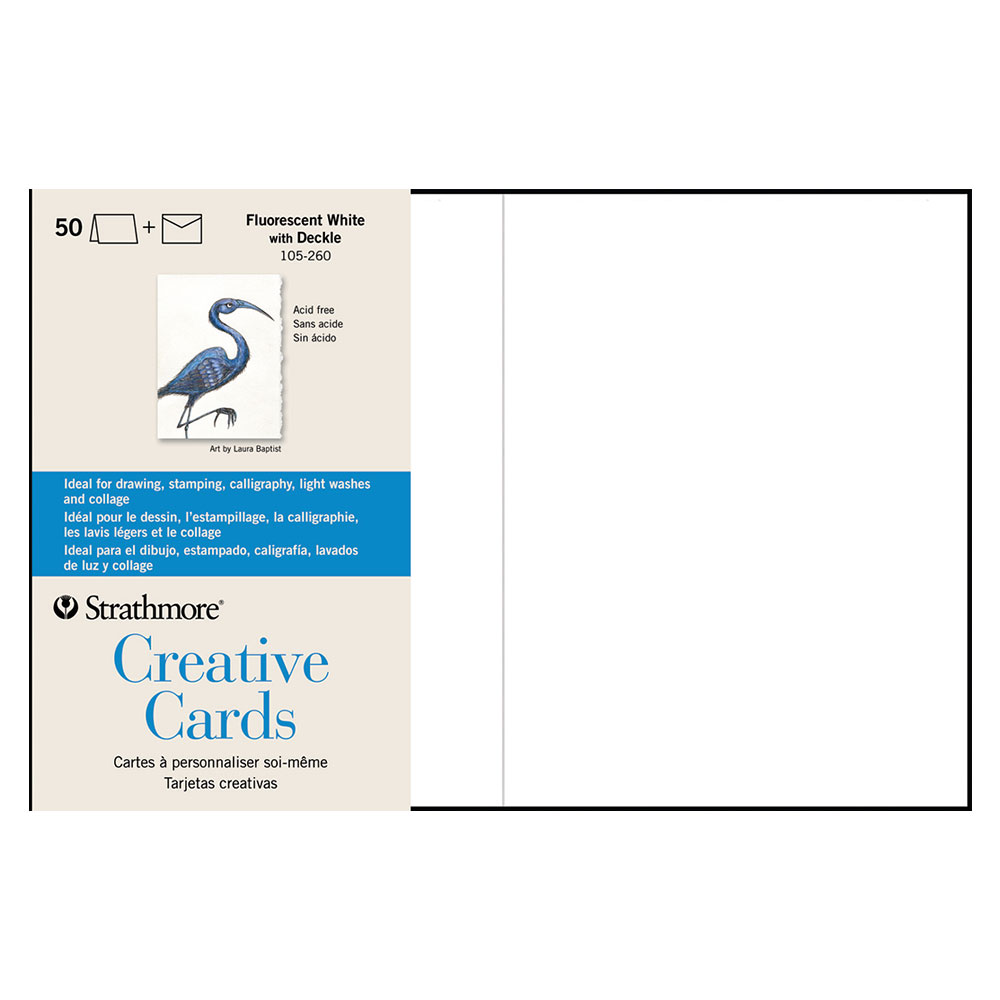 Strathmore Creative Cards White With Deckle