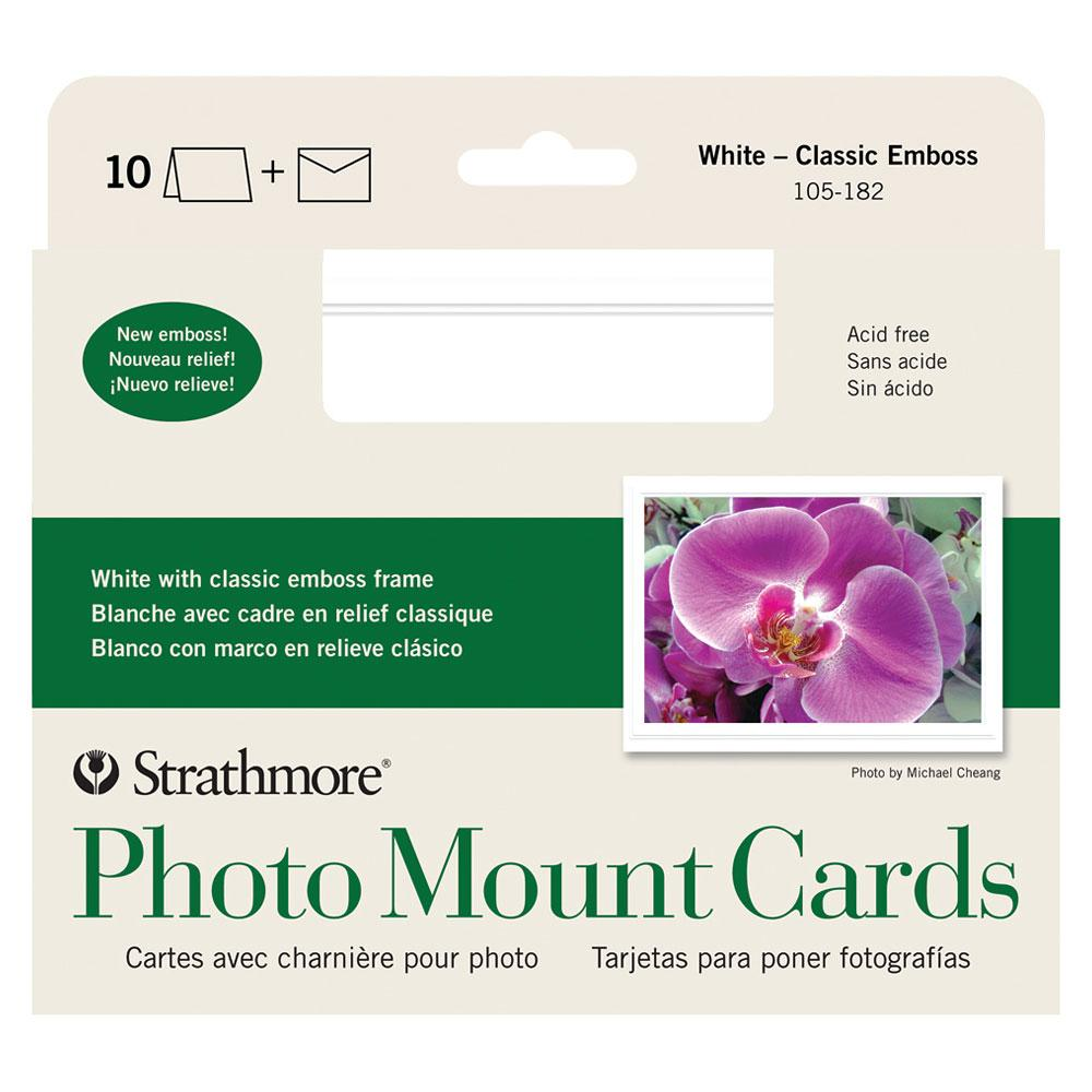 "Strathmore Photo Mount Cards Emboss 5""x7"" 10 Pack"