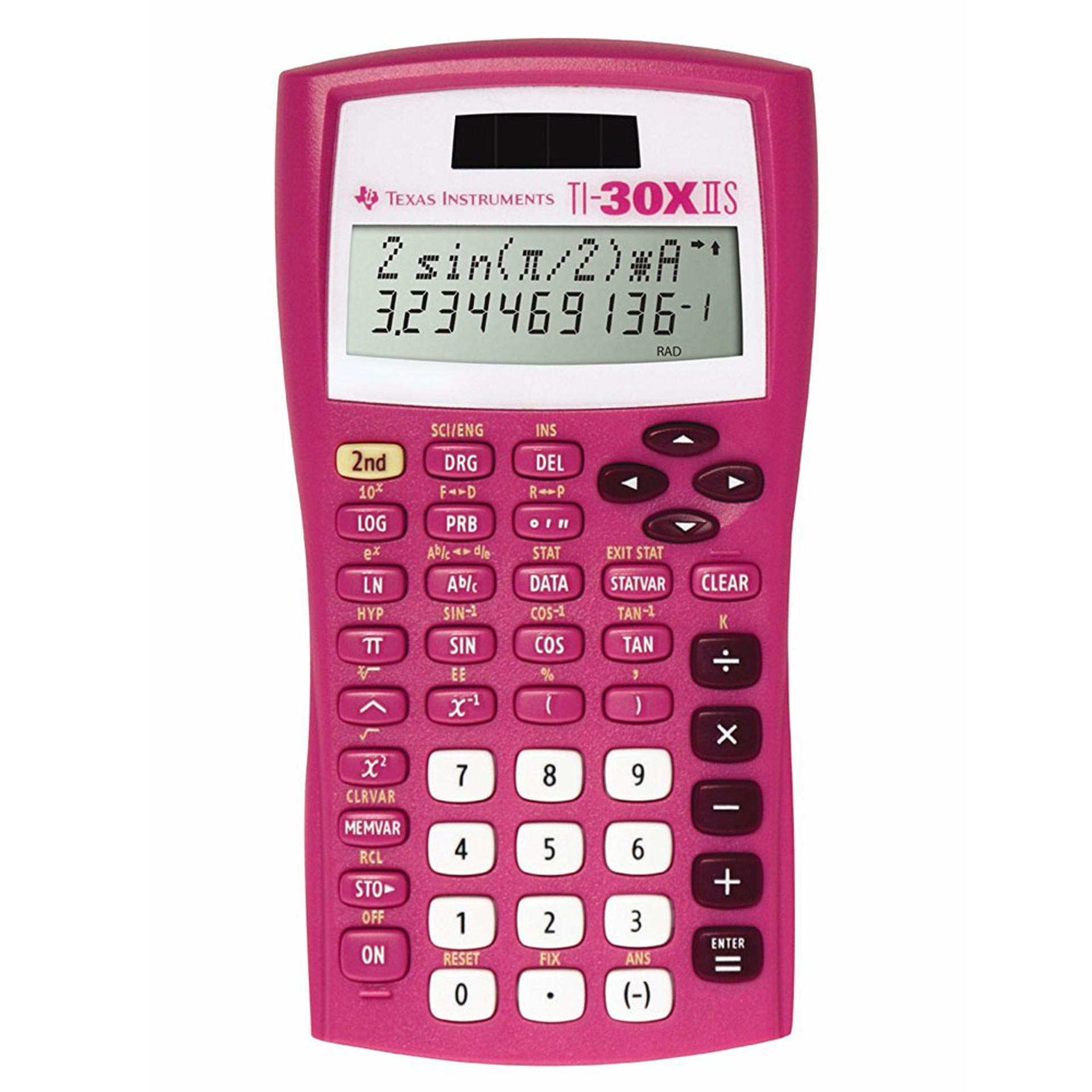 TI-30XIIS Scientific Calculator Pink