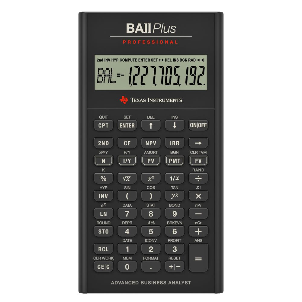 TI BAII Plus Pro Financial Calculator