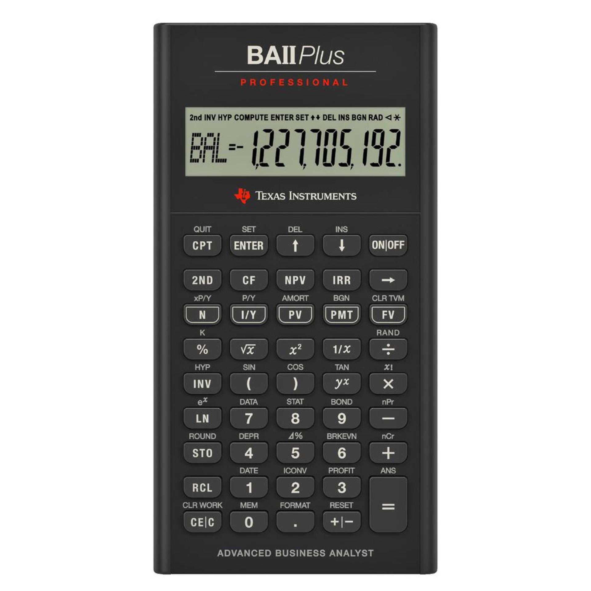 TI BAII Plus Pro Financial Calculator