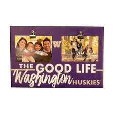 The Good Life Washington Huskies Canvas Clip 18x12