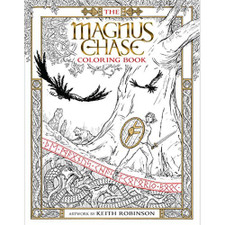 The Magnus Chase Coloring Book by Rick Riordan, artwork by Keith Robinson