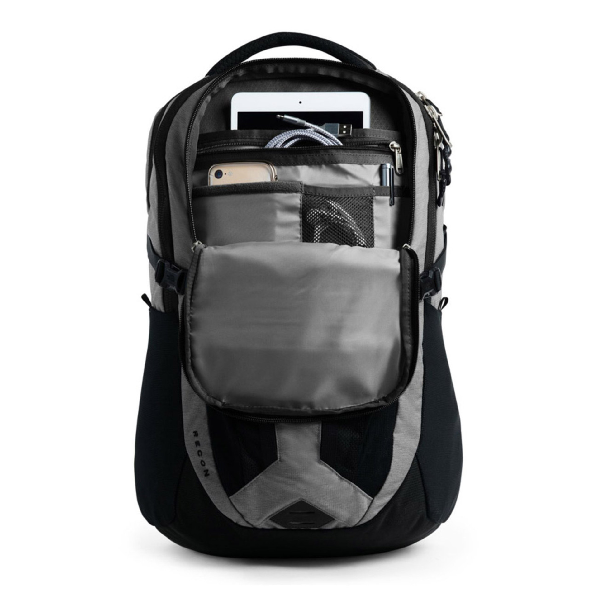 The North Face Borealis Backpack Black Open