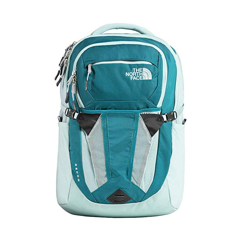 The North Face Women Recon Backpack Canal Blue Crystal Teal Front