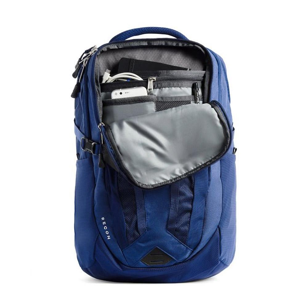 The North Face Recon Backpack Flag Blue Heather Inside