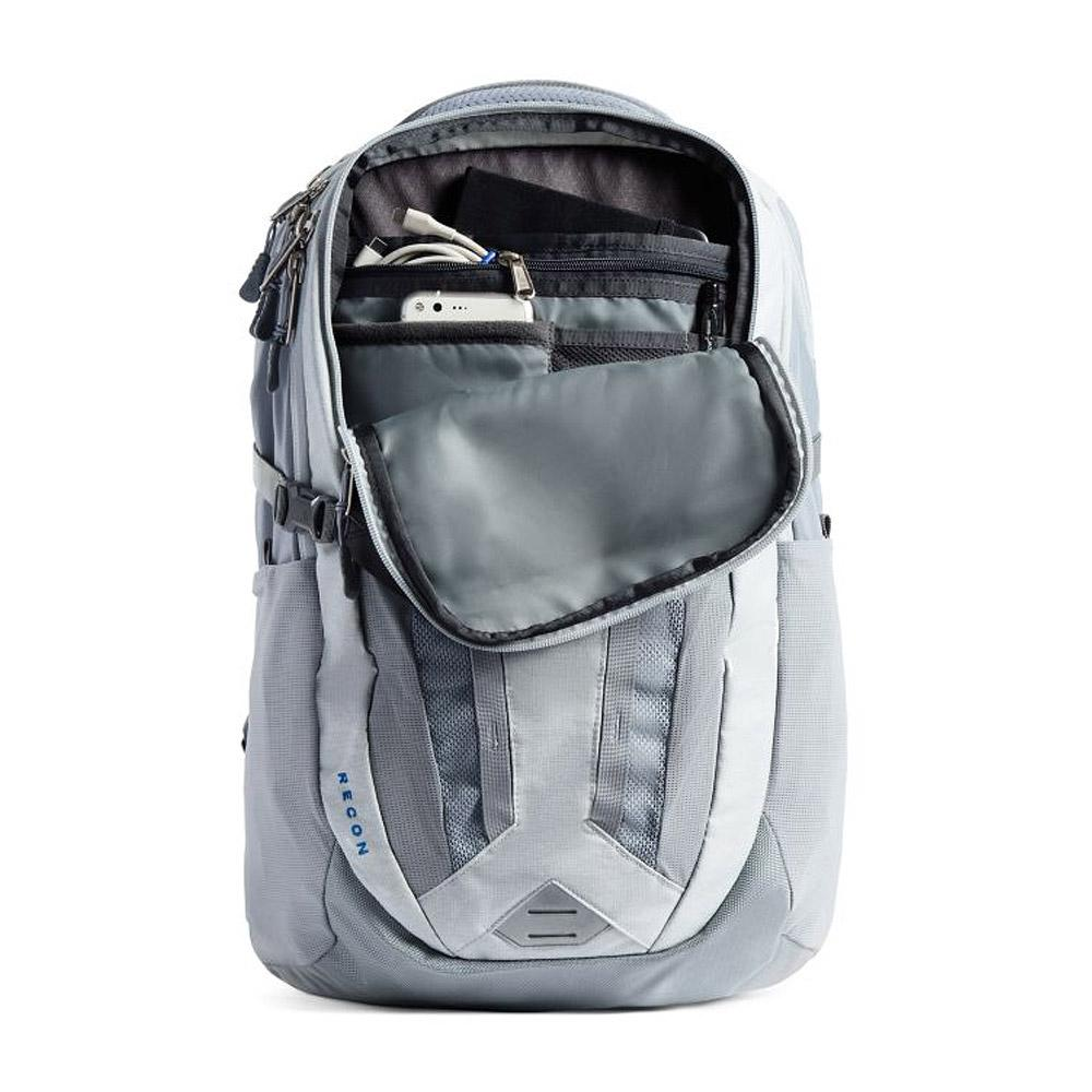 The North Face Recon Backpack Hi-Rise Grey/MidGrey Inside