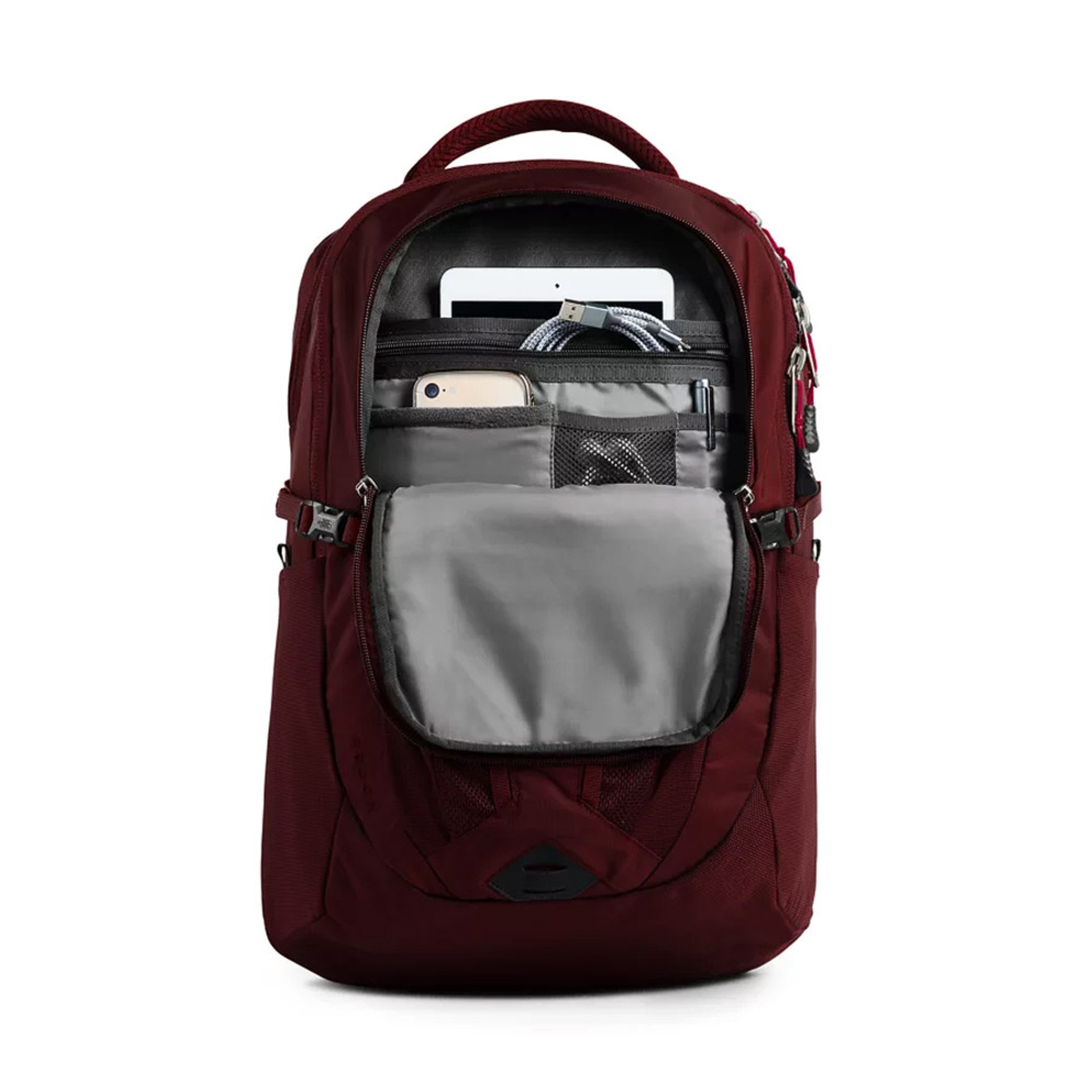 The North Face Women's Recon Backpack Deep Garnet Open