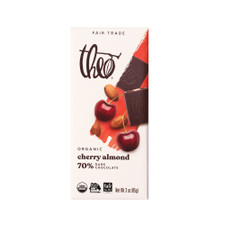 Theo Cherry Almond 70% Dark Chocolate Bar 3oz