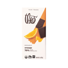 Theo Orange 70% Dark Chocolate Bar 3oz