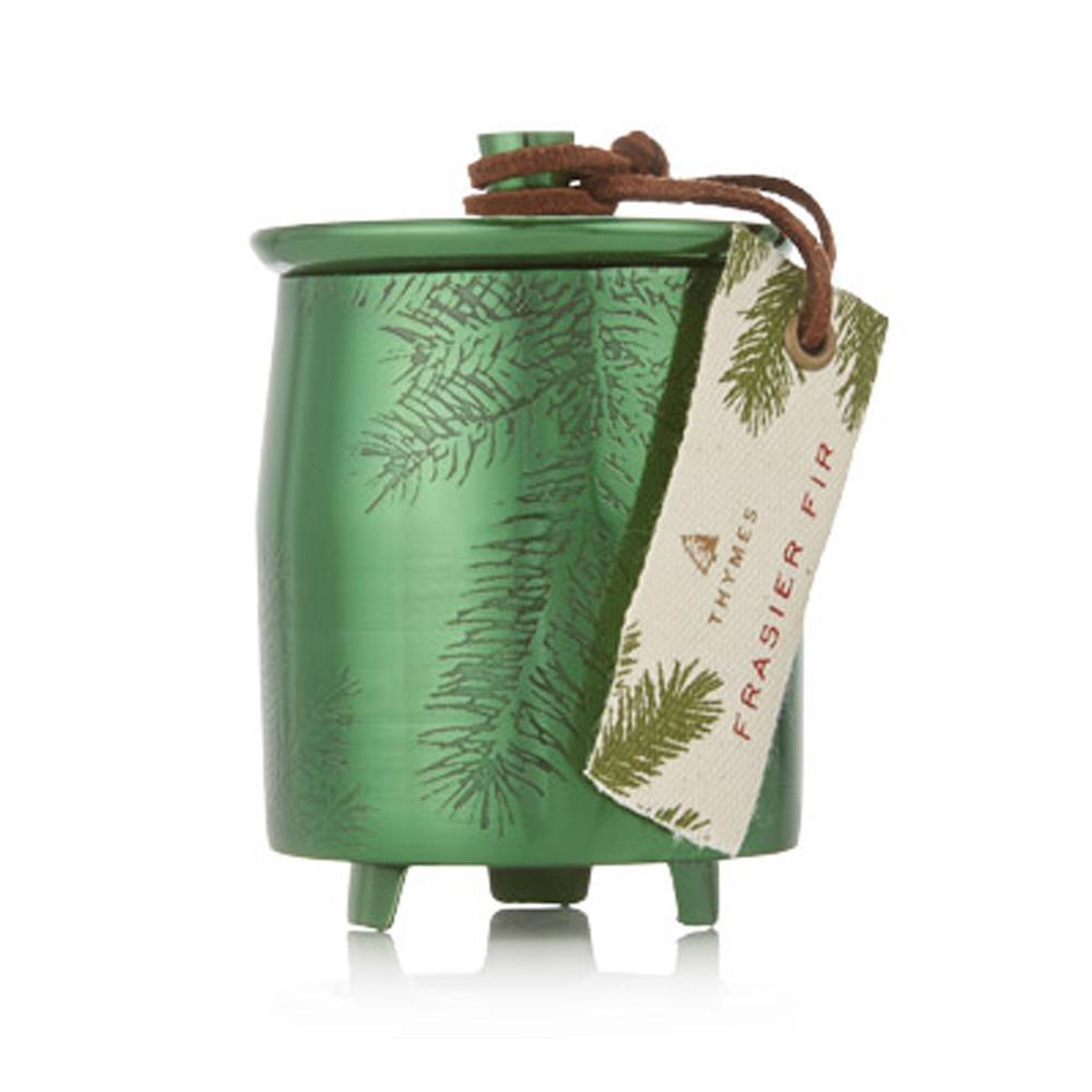 Thymes Frasier Fir Green Tin Candle