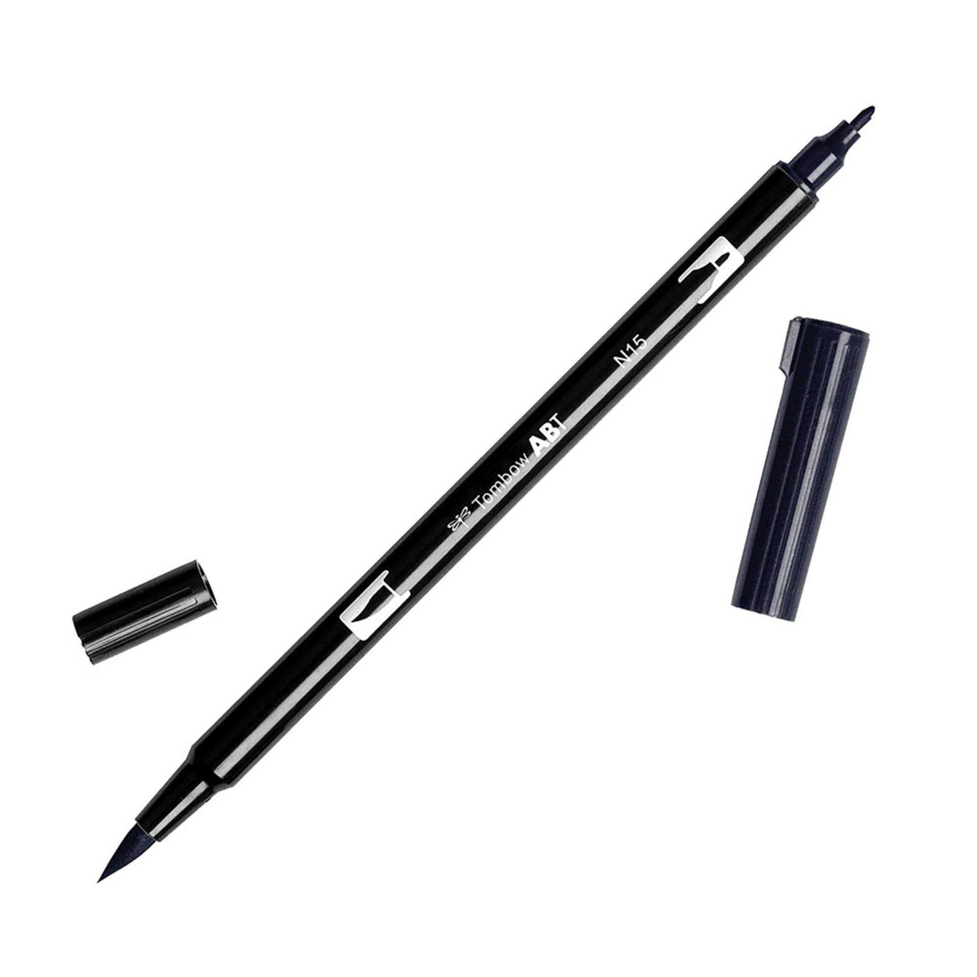 Tombow Dual-Tip Brush Marker Pen – Black