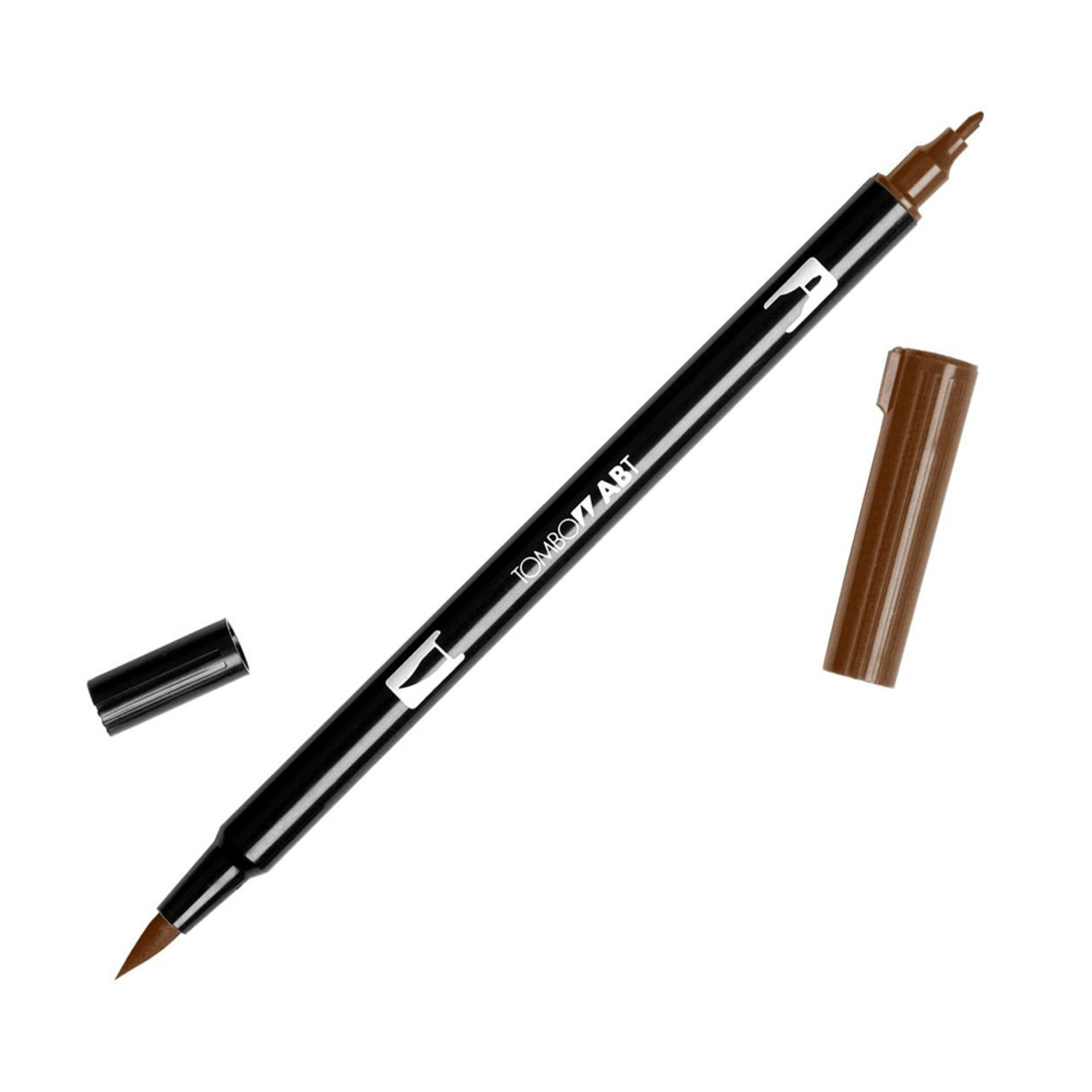 Tombow Dual-Tip Brush Marker Pen – Chocolate