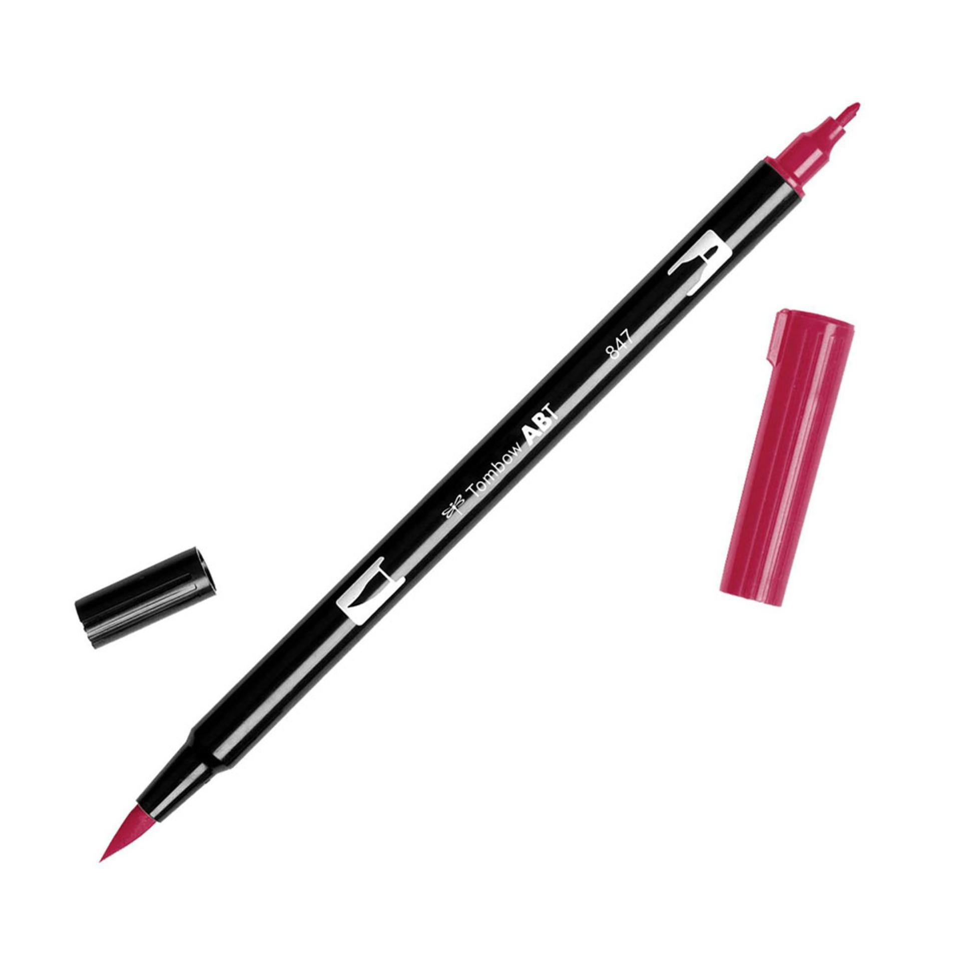 Tombow Dual-Tip Brush Marker Pen – Crimson