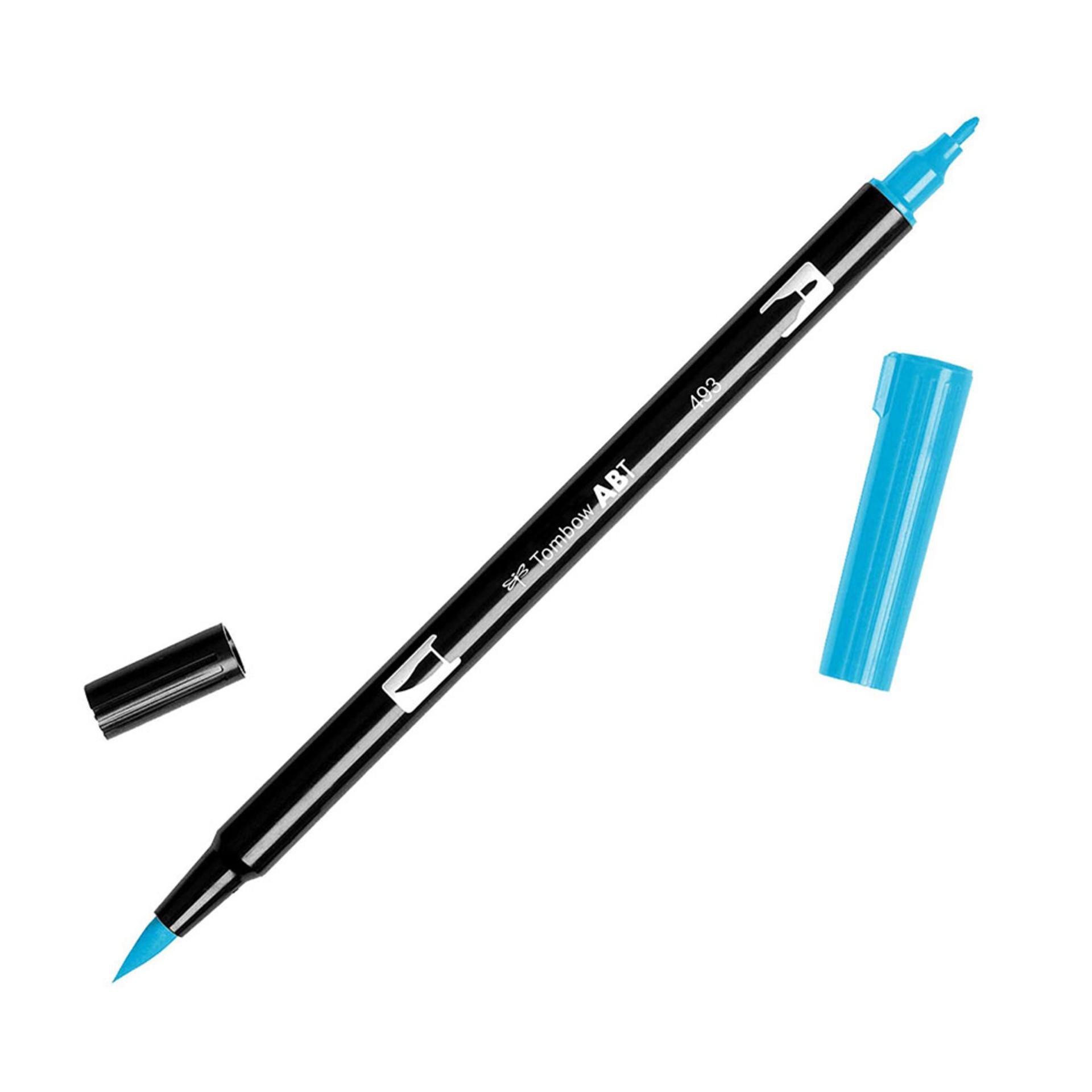 Tombow Dual-Tip Brush Marker Pen – Cyan