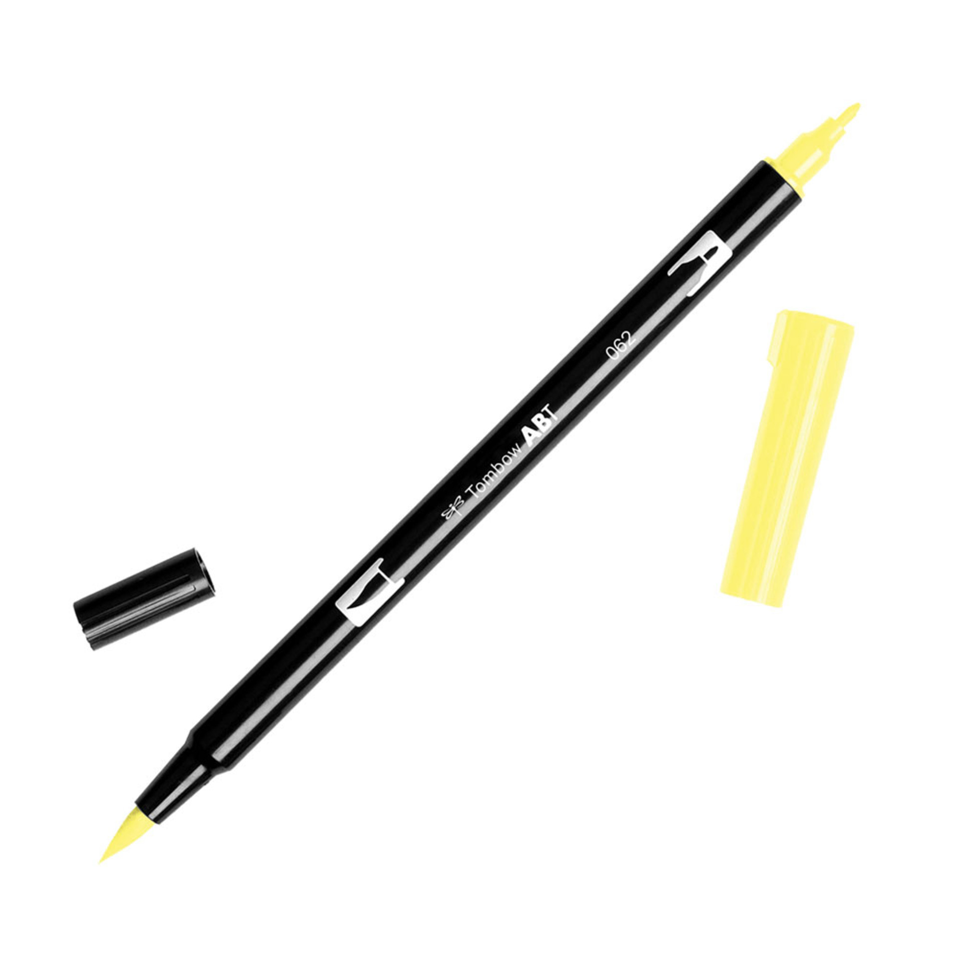 Tombow Dual-Tip Brush Marker Pen – Pale Yellow