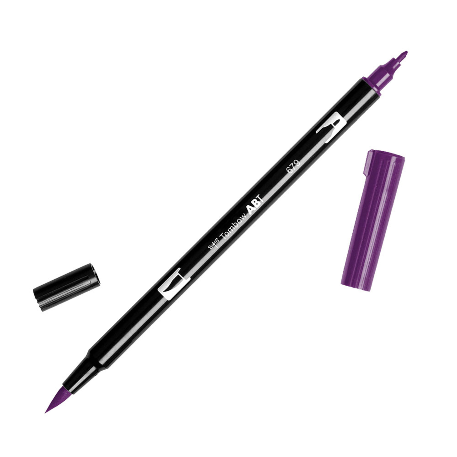Tombow Dual-Tip Brush Marker Pen – Plum