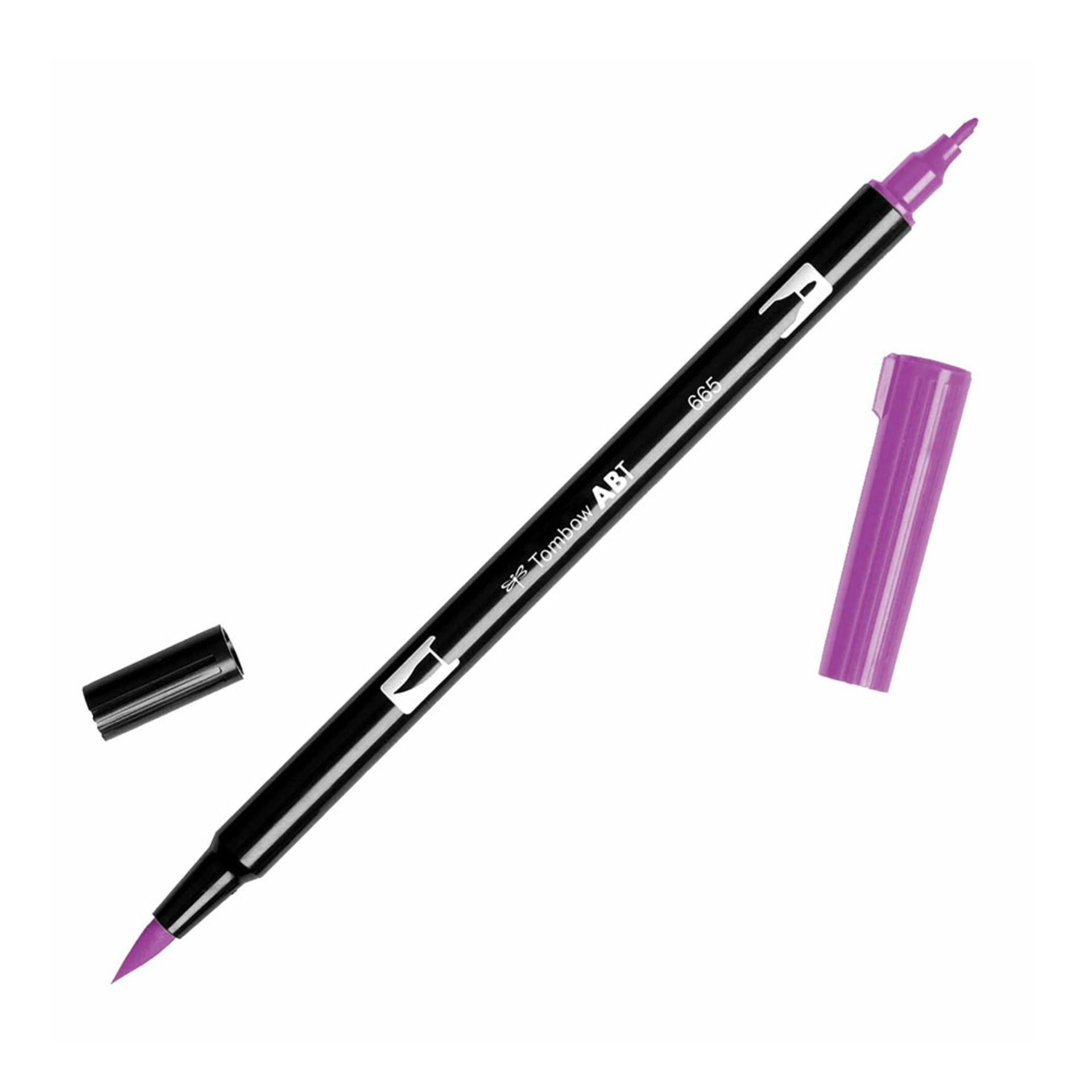 Tombow Dual-Tip Brush Marker Pen – Purple-1