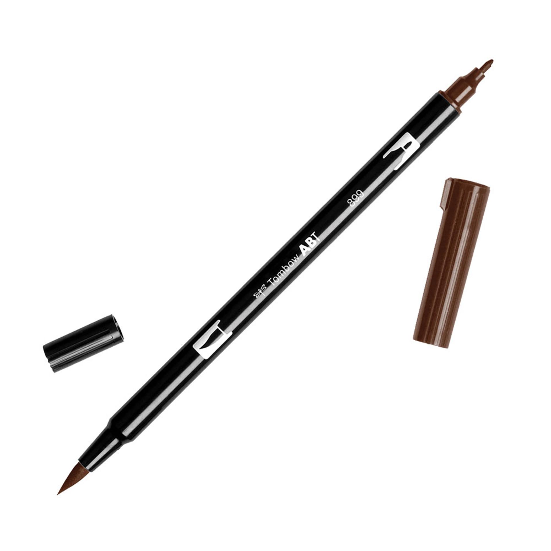 Tombow Dual-Tip Brush Marker Pen – Redwood
