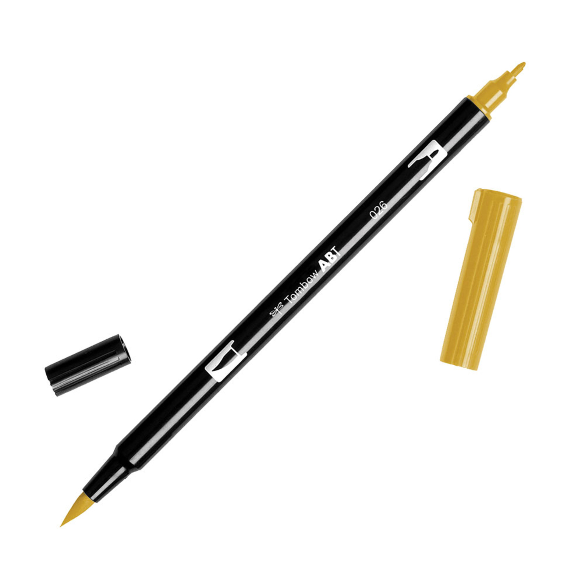 Tombow Dual-Tip Brush Marker Pen – Yellow Gold