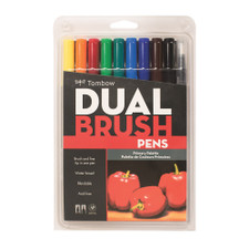 Tombow Primary Palette Dual-Tip Brush Pen Set 10 piece
