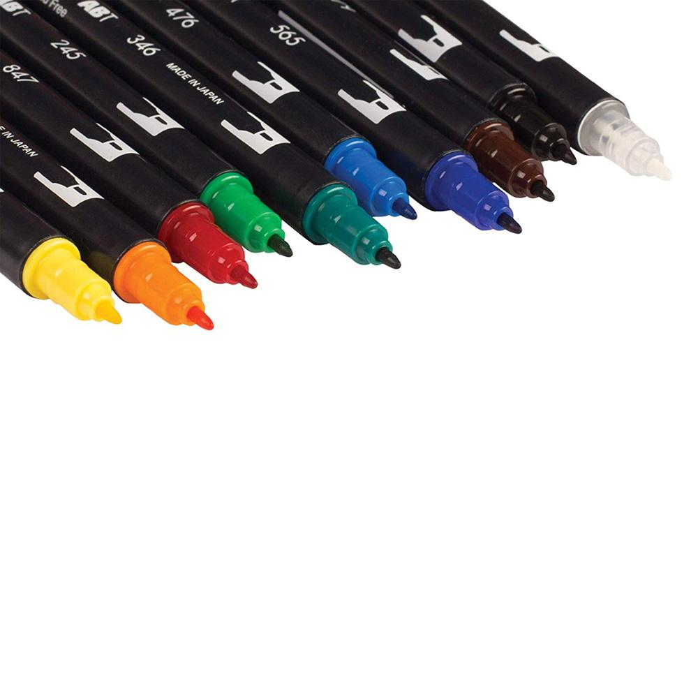 Tombow Primary Palette Dual-Tip Brush Pen