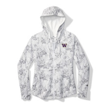 Tommy Bahama Women's White W Blossoms Full-Zip Hoodie