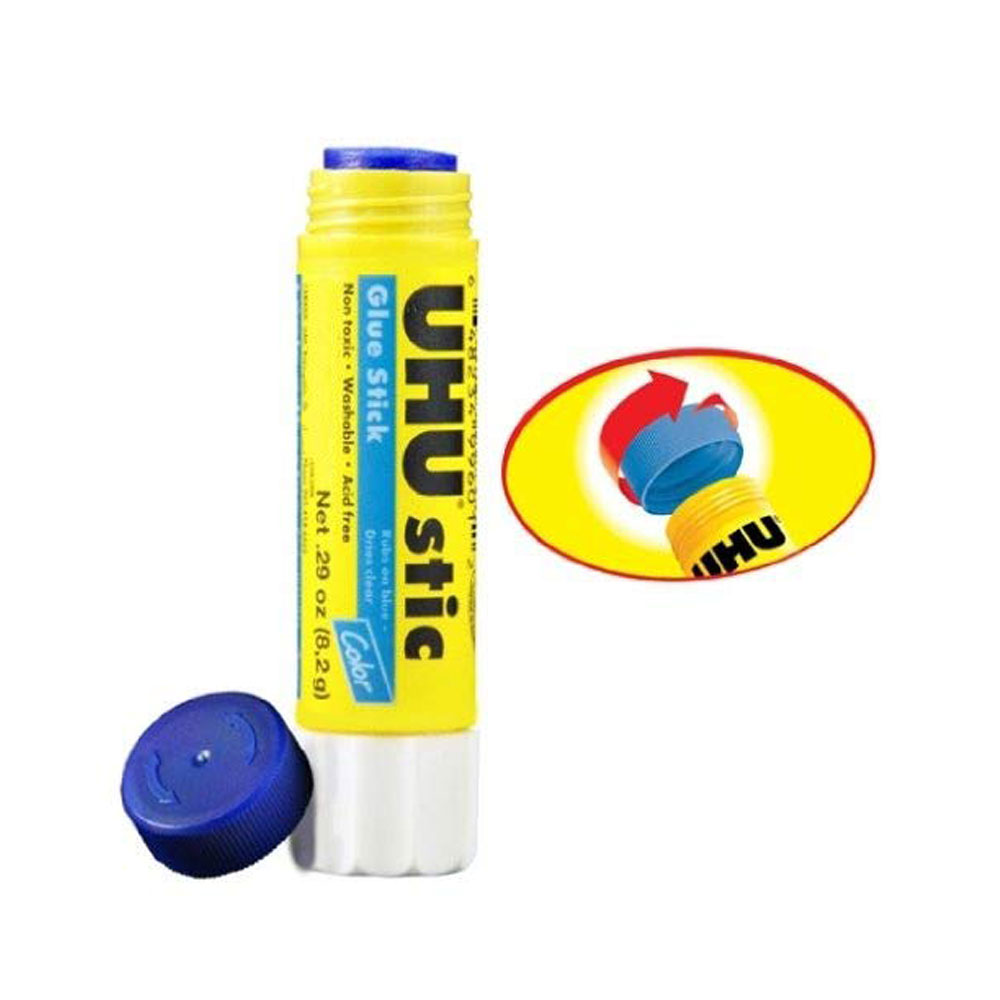 UHU Blue stic .29oz Non-toxic Washable Glue Stick