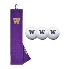 UW Golf Towel Dad Gift Set