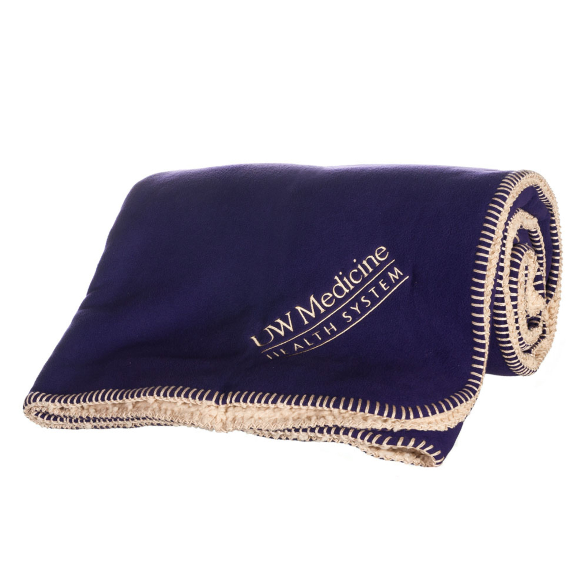 UW Medicine Fleece Blanket 2 Sided
