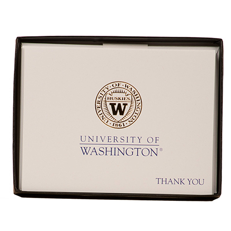 Uw Seal Thank You Note Card Boxed