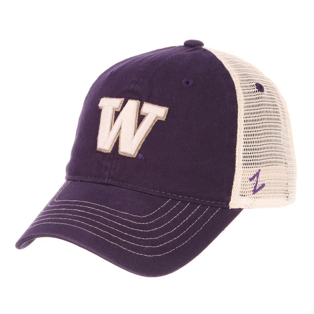 UW Zephyr Unisex W Purple Reign Banjo Mesh Snapback Hat 31bdaab86