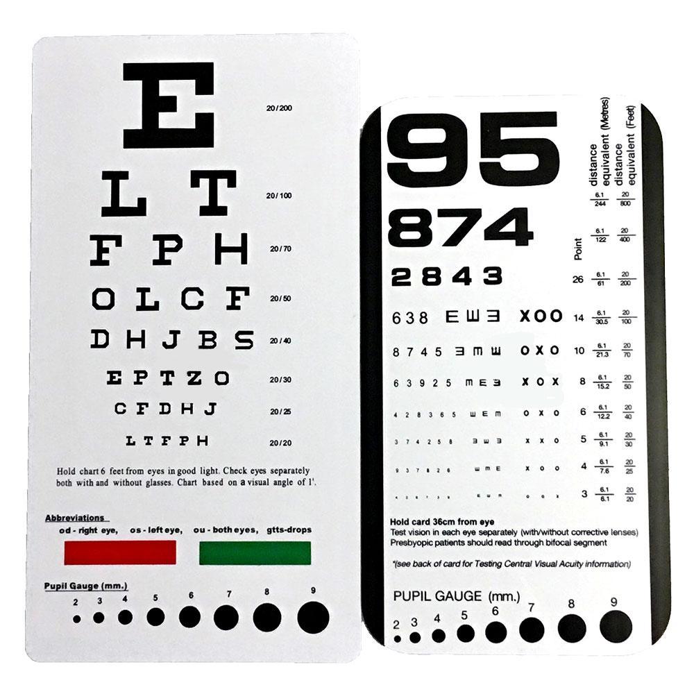 Ultimate Rosenbaum Snellen Pocket Eye Chart 14