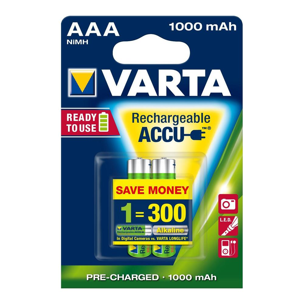 Varta AAA Rechargeable Batteries 2-pack