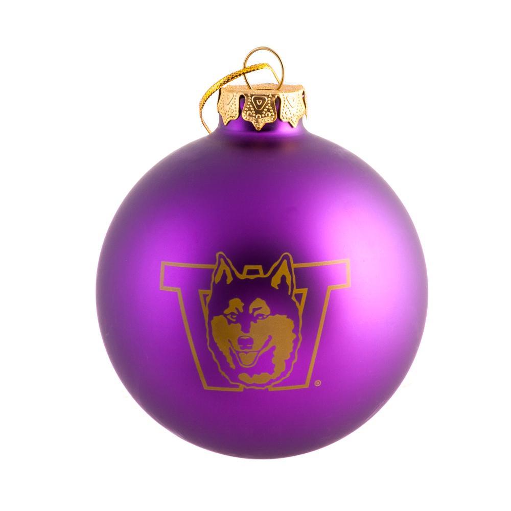 Vault Dog Glass Ball Ornament Purple