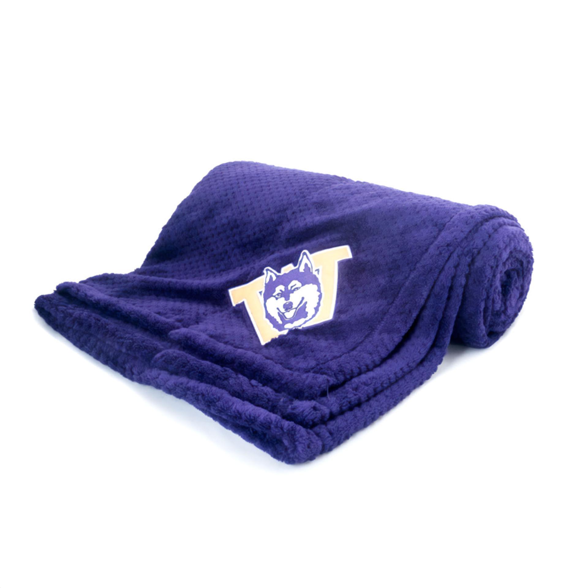 Know Wear Purple Vault Dog Pineapple Fleece Blanket