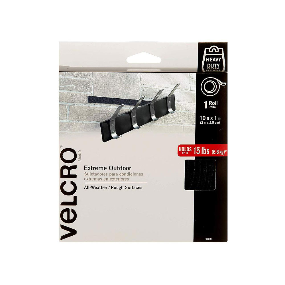 "Velcro 15lb Capacity 4""x1"" Extreme Outdoor Strips 10ct"