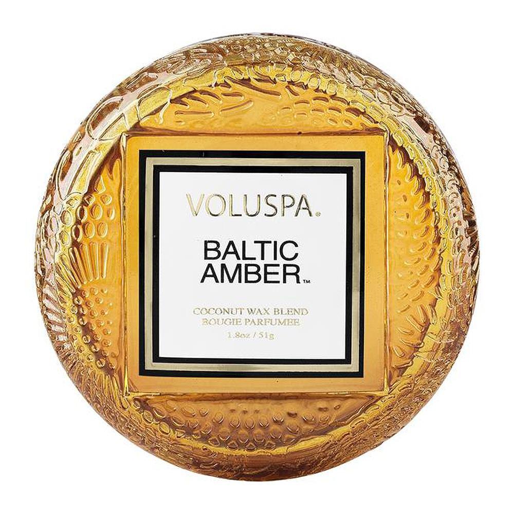 Voluspa Baltic Amber Macaron Candle Top