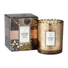 Voluspa Boxed Copper Clove Scalloped Candle